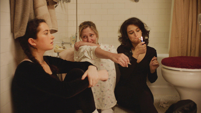 Abby Quinn, Edie Falco and Jenny Slate appear in Landline by Gillian Robespierre, an official selection of the U.S. Dramatic Competition at the 2017 Sundance Film Festival. Courtesy of Sundance Institute | photo by Chris Teague.